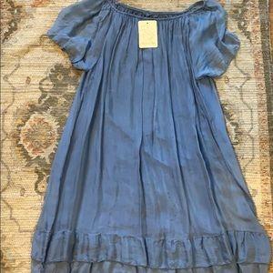 Light blue silk dress